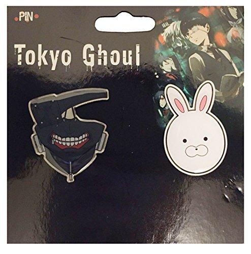 Tokyo Ghoul Pin: Kaneki Ken & Kirishima Touka Mask Metal Pin
