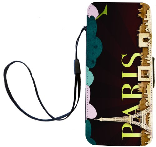 Rikki Knight Paris Deco Art Flip Wallet Case with Magnetic Flap for Apple iPhone 5 and 5s