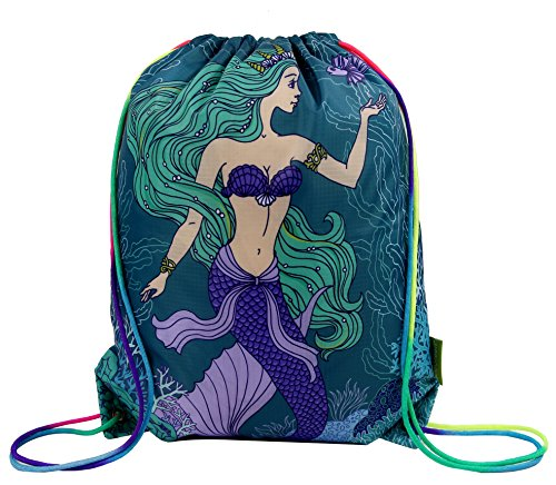 Cute Snack Ideas For Halloween (Mermaid Drawstring Gym Bag for Teens Kids Girls, Cinch Backpack for School Gifts)