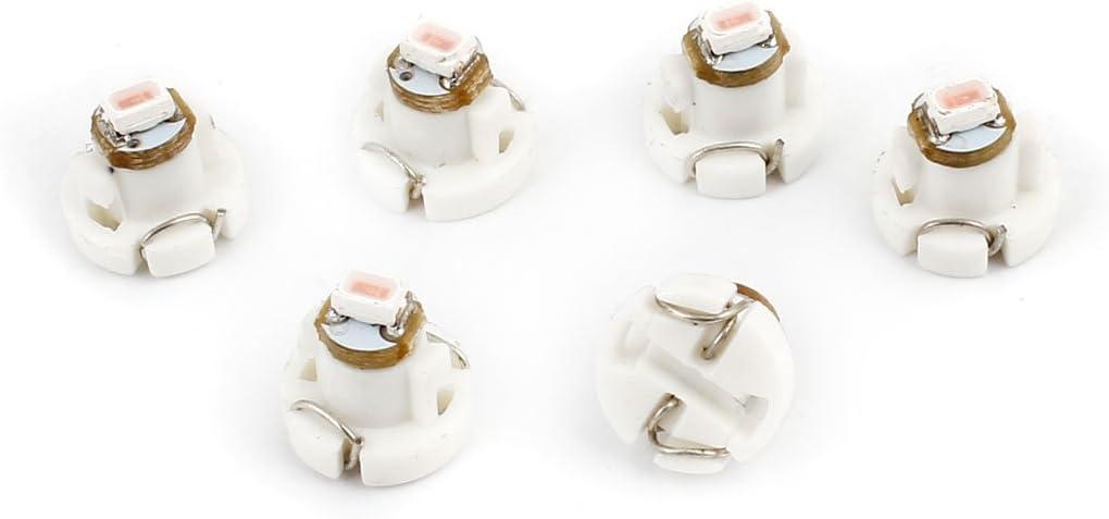 Sourcingmap Voiture 6PCS Rose T3 3020 SMD LED Lampe Plaque Lisence Planche Bord Interne Ampoule Coin