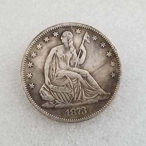 WuTing 1873 Antique Liberty Half-Dollars Coin - American Commemorative Coin - US Old Coins- Original Pre Morgan Uncirculated Condition Great American Coin