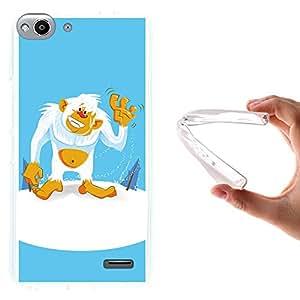 WoowCase - Funda Gel Flexible { Vodafone Smart Ultra 6 } Yeti Carcasa Case Silicona TPU Suave