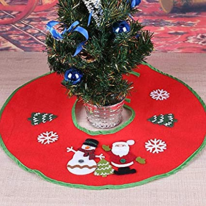 tree skirts red christmas tree skirt decoration ornament supermarket blanket xmas decorations orange disney