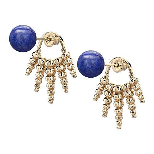 Nikos Koulis femme  18carats (750/1000)  Or jaune|#Gold Rond   Bleu Lapis Lazuli
