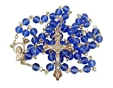 Acrylic Prayer Bead Rosary with Adoring Madonna Centerpiece, 20 Inch