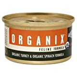 Castor and Pollux Organix Feline Formula, Turkey and Spinach, 3-Ounce Cans (Pack of 24), My Pet Supplies