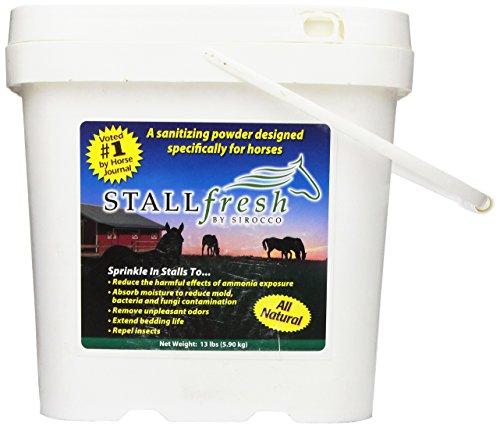 StallFresh Moisture Absorbent and Ammonia Neutralizer, 13-Pound Bucket (Stall Horse Bedding)