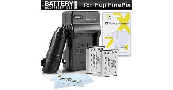 Amazon.com: 2PK Kit de batería + cargador para Fuji Fujifilm ...