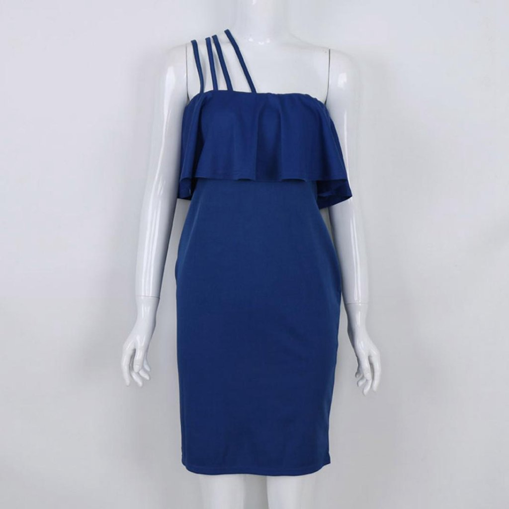 Usstore Dresses For Women Bandage Off Shoulder Bodycon Party Vintage Dresses