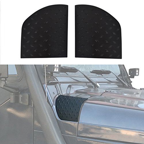 New Black Cowl Special Body Armor for 1997-2006 Jeep Wrangler TJ & (Body Armor Hood)