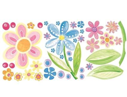 Wallies Wallpaper Big Flowers Mural Set Of 3 Sheets
