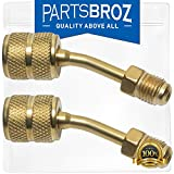 PartsBroz R410a Adapter for Mini Split HVAC System 5/16 Female Quick Couplers x 1/4 Male Flare