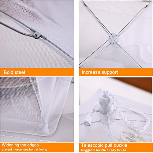 17''x17'' Pop-Up Mesh Screen Food Cover Tents - Keep Out Flies, Bugs, Mosquitos - Reusable and Collapsible(6 Pack) by Casolly (Image #2)
