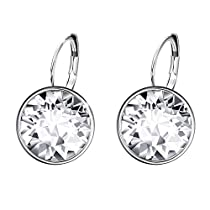 Xuping Sparkle Halloween Gifts 2018 Hot Sale Luxury Platinum Color Plated Crystals from Swarovski Hoop Earrings Women Girl Lady Wedding Prime DayJewelry