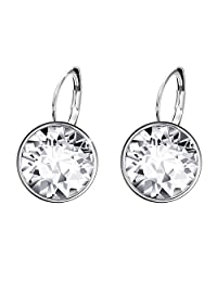 bd8d80fec Xuping Sparkle Valentine's Day Hot Sale Luxury Platinum Color Plated  Crystals from Swarovski Hoop Earrings Women
