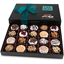 Oh! Nuts Chocolate Covered Cookie Gift Baskets, 20 Verity Gourmet Assortment Set Holiday Food Sandwich Cookies, Prime Christmas Elegant Box Gifts, Thanksgiving Valentines Fathers & Mothers Day Basket