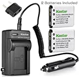 Kastar Battery 2-Pack + Charger for Fujifilm NP-45 NP-45A NP-45B NP-45S and Fujifilm FinePix XP20 XP22 XP30 XP50 XP60 XP70 XP80 XP90 XP120 T350 T360 T400 T500 T510 T550 T560 JX500 JX520 JX550 JZ310