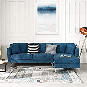 Peachy Amazon Com Navy Blue Modular Sectional Sofa Couch Alphanode Cool Chair Designs And Ideas Alphanodeonline