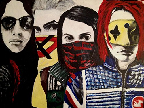 My Chemical Romance, MCR, an American Rock Band from Newark, New Jersey, Gerard Way, Ray Toro 12 x 18 inch Poster