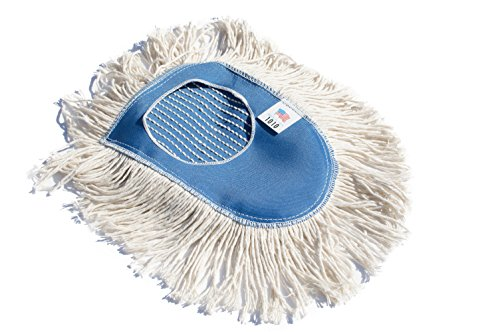 Wedge Head (Nine Forty Industrial Strength Ultimate Cotton Floor Dust Mop Wedge Refill | Commercial Cleaner Mop Head Replacement)