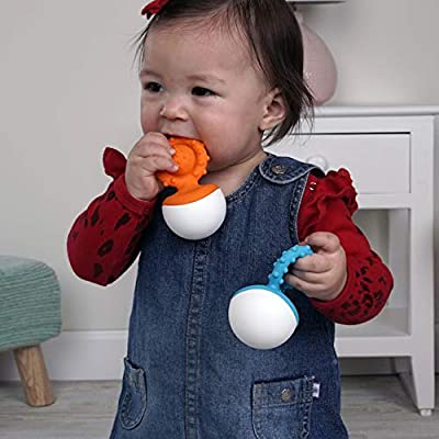 Fat Brain Toys Dimpl Wobbl - Orange Baby Toys & Gifts for Ages 0 to 1: Toys & Games