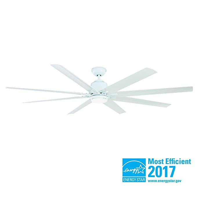 Home Decorators Collection Kensgrove 72 In Led Indoor Outdoor White Ceiling Fan With Light Kit And Remote Control Com