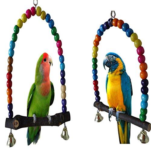 Coco*Store Wooden Bird Parakeet Cockatiel Parrot Swing Toys
