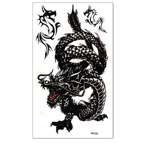Men's Temporary Tattoo Dragon Pattern Fake Tatoo Sticker Body Art (Tatoo Pattern)
