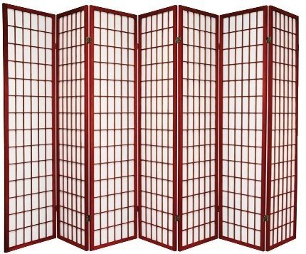 anel Wooden Screen, Cherry Finish (Cherry, 7 panel) (Panel Cherry Finish Wooden Screen)