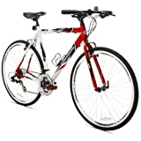 Giordano RS7 Hybrid Bike, Red/White/Black, Large/6cm Frame