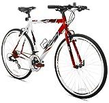 Cheap Giordano RS700 Hybrid Bike (54cm Frame), Red/White/Black