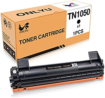 ONLYU 1-Paquete Compatible Brother TN1050 Cartucho De Tóner para Brother HL-1110 HL-1112 HL-1210W DCP-1510 DCP-1512 DCP-1610W MFC-1810 MFC-1910 ...