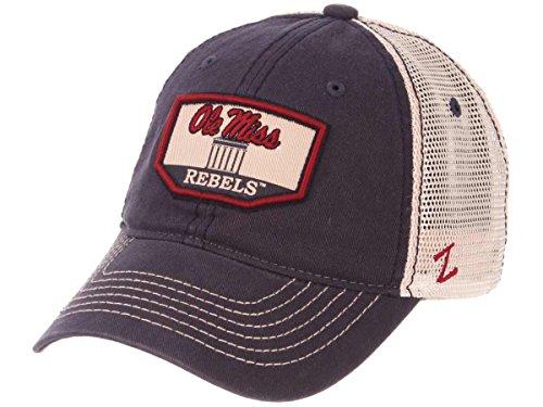 Ole Miss Rebels Zephyr Navy Trademark Lyceum Building Mesh Adj. Slouch Hat Cap ()