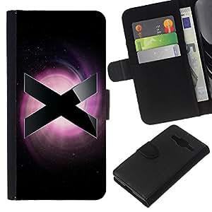 EJOY---La carpeta del tirón la caja de cuero de alta calidad de la PU Caso protector / Samsung Galaxy Core Prime / --X