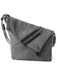 Casual Vintage Hobo Canvas CrossBody Messenger Large Capacity Weekend Travel Shoulder Handbag Tote Bag