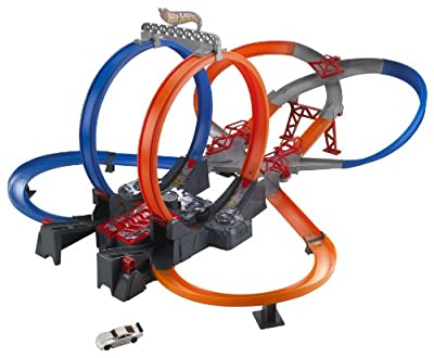 Hot Wheels Mega Loop Mayhem Trackset from Mattel