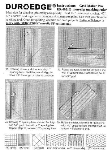 amazon com duroedge grid maker pro shape cut non slip slitted ruler