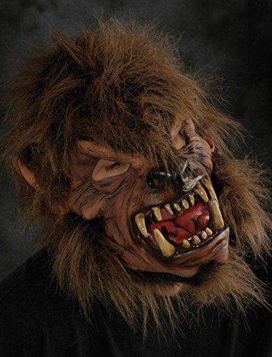 Wolf Man Mask (Zagone MoonShined Werewolf Mask, Brown Wolfman)