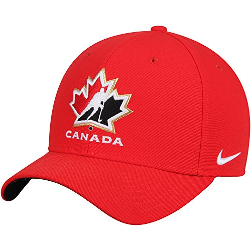 Team Canada Hockey Hats - NIKE Canada Hockey 2018 Winter Olympics Structured Adjustable Hat Red