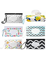 6pcs Wet Wipes Dispenser, Portable Wipes Pouch, Eco Friendly Baby Wipes Holder, Reusable Baby Refillable Wet Wipes Container for Travel, Strollers, Backpacks