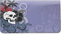 Hawaiian Skull Leather Checkbook Cover