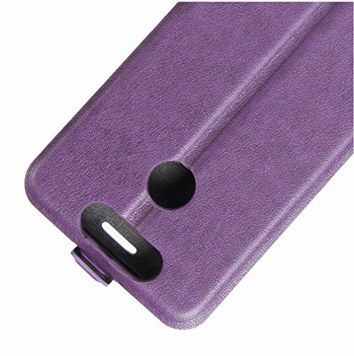 Funda ZTE Blade V8 mini,Manyip Caja del teléfono del cuero,Protector de Pantalla de Slim Case Estilo Billetera con Ranuras para Tarjetas, Soporte Plegable, Cierre Magnético B