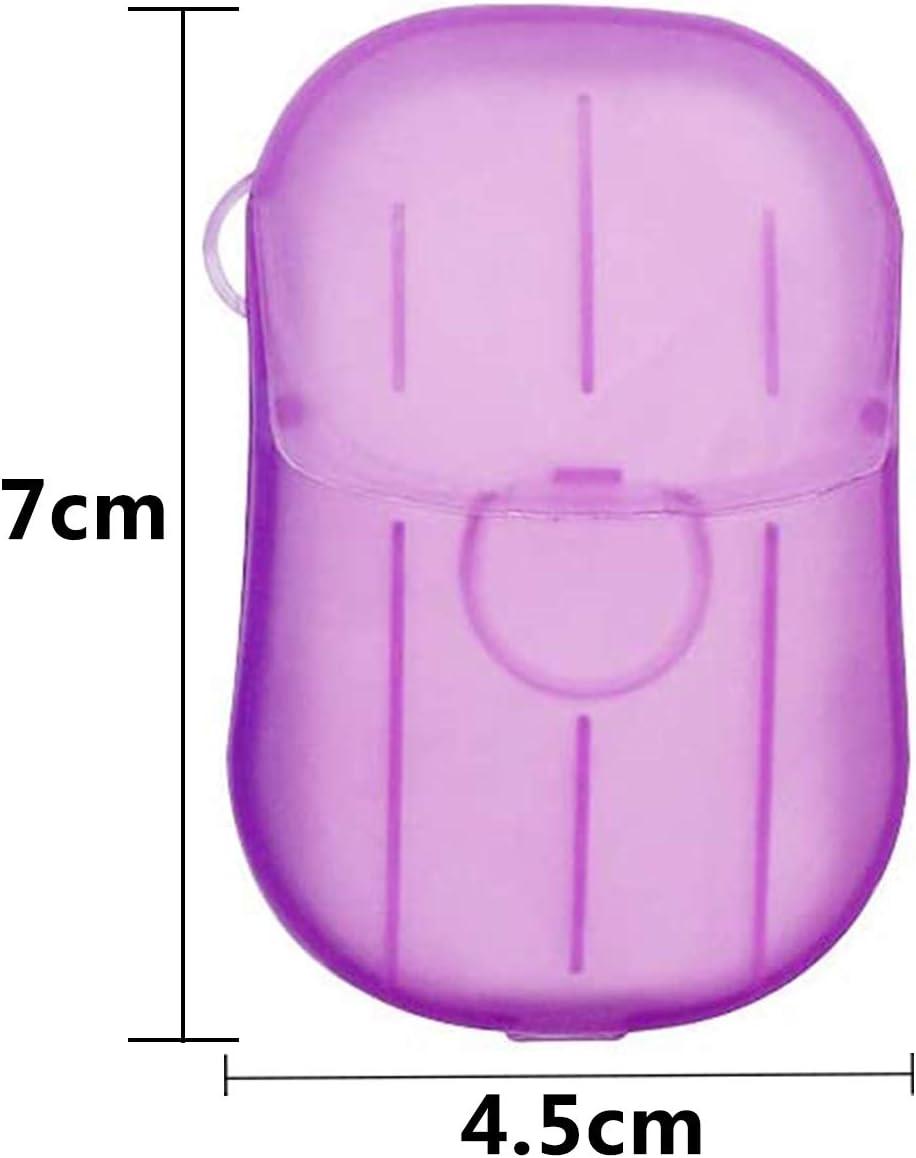 BETOY 10x Feuilles de Savon Voyager Portable Papier avec bo/îte en Plastique Mini Voyage Portable Portable Savon Tranches de Savon Feuilles de Savon Feuilles de Savon jetables Savon Feuilles de Savon
