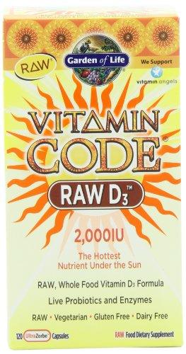 Сад Жизни Витамин Код RAW D3, 120 капсул