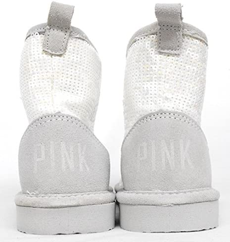 Victorias Secret Pink Sequin Fur Boots Mukluk
