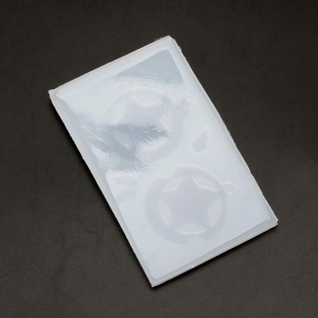 Molde de silicona para hacer joyas con dise/ño de alas de estrella huecas