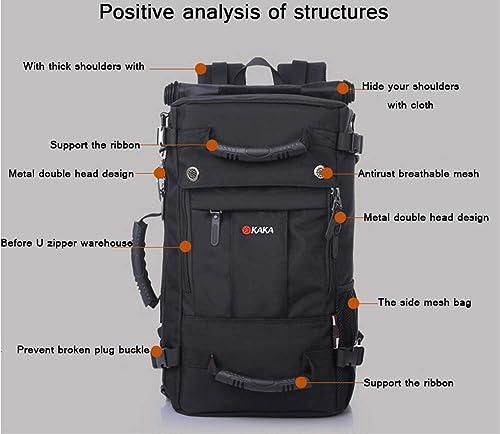 Kaka Large Capacity Backpack 40L Oxford Tool Gear Bag Camouflage Backpack Man Women Casual Travel Bag Black