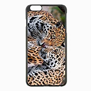 iPhone 6 Plus Black Hardshell Case 5.5inch - jaguars couple affection predators Desin Images Protector Back Cover