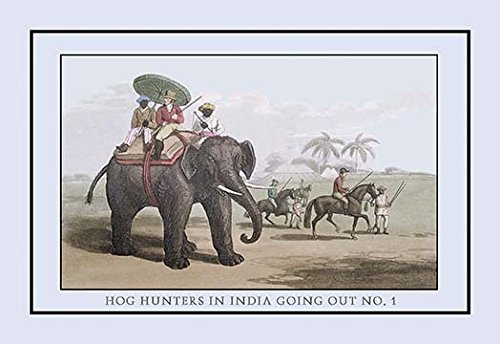 Buyenlarge Hog Hunters in India Going Out, No. 1 - Gallery Wrapped 44''X66'' canvas Print., 44'' X 66''''
