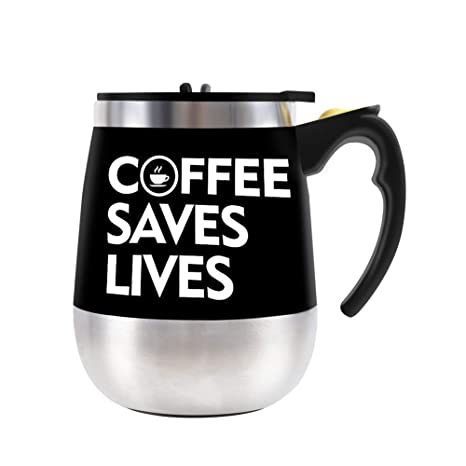 Amazon.com: Taza autoagitadora de acero inoxidable para café ...